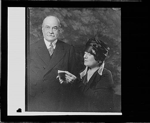 Portrait photograph of an unidentified couple