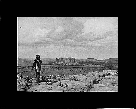 Looking from Acoma toward the Enchanted Mesa