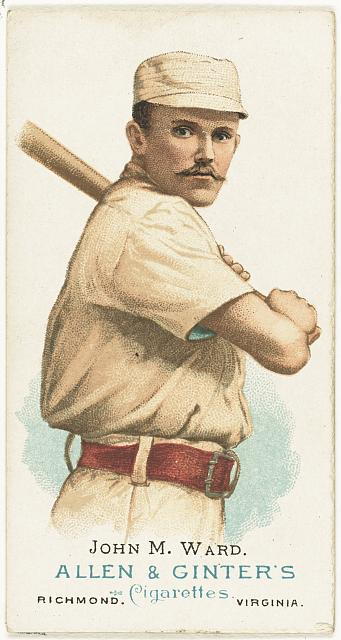 [John M. Ward, New York Giants, baseball card portrait]
