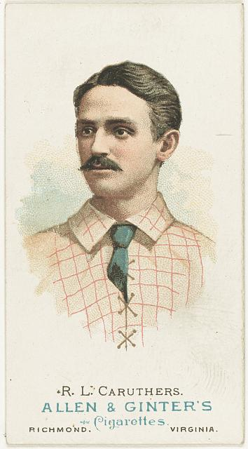 [R. L. Caruthers, St. Louis Browns, baseball card portrait]