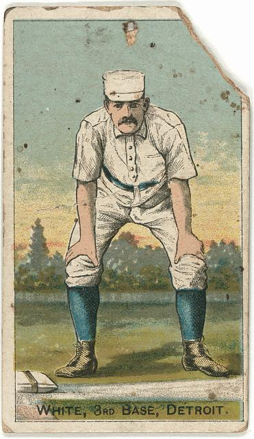 [Deacon White, Detroit Wolverines, baseball card portrait]