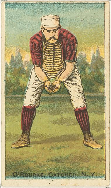 [Jim O'Rourke, New York Giants, baseball card portrait]