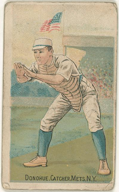 [Jim Donahue, New York Metropolitans, baseball card portrait]