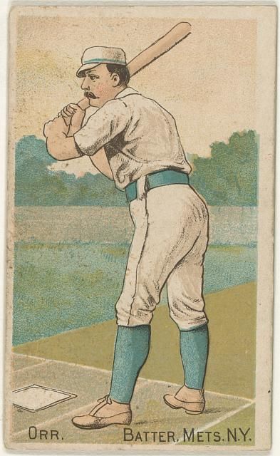 [Dave Orr, New York Metropolitans, baseball card portrait]