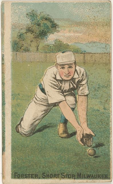 [Tom Forster, Milwaukee Team, baseball card portrait]