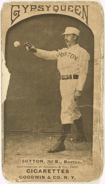 [Ezra Sutton, Boston Beaneaters, baseball card portrait]