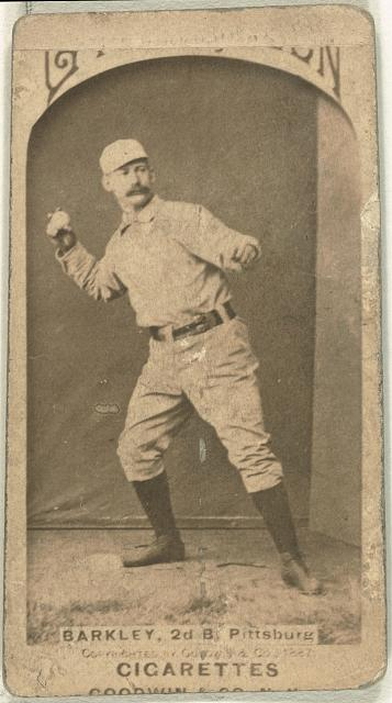 [Sam Barkley, Pittsburgh Alleghenys, baseball card portrait]