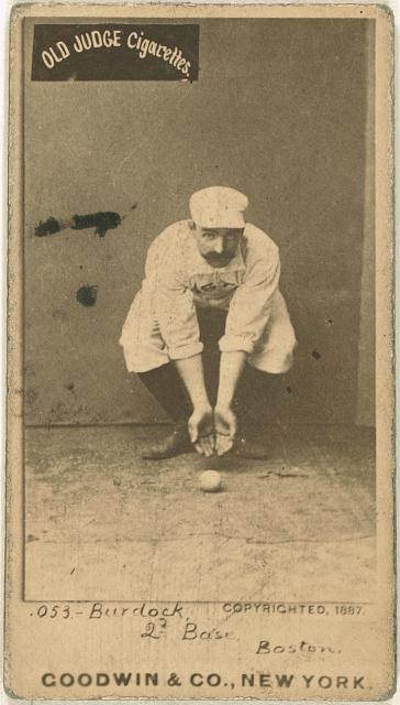 [Black Jack Burdock, Boston Beaneaters, baseball card portrait]