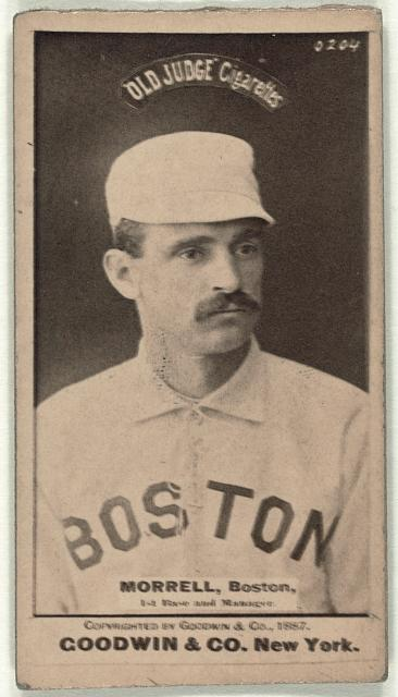 [Honest John Morrill, Boston Beaneaters, baseball card portrait]