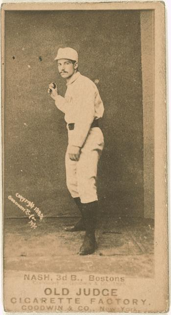 [Billy Nash, Boston Beaneaters, baseball card portrait]