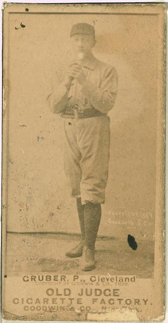 [Henry Gruber, Cleveland Spiders, baseball card portrait]