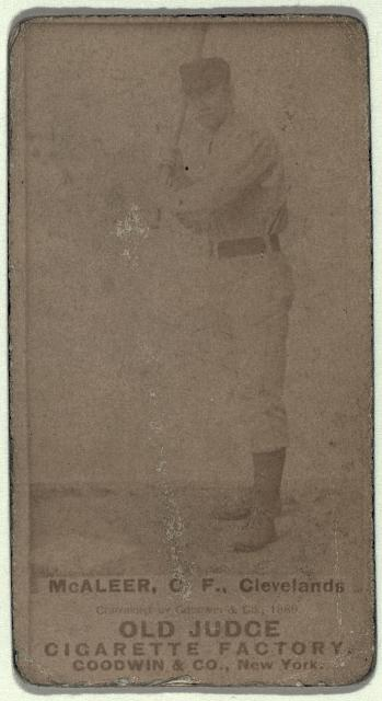 [Jimmy McAleer, Cleveland Spiders, baseball card portrait]