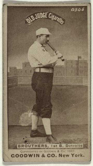 [Dan Brouthers, Detroit Wolverines, baseball card portrait]
