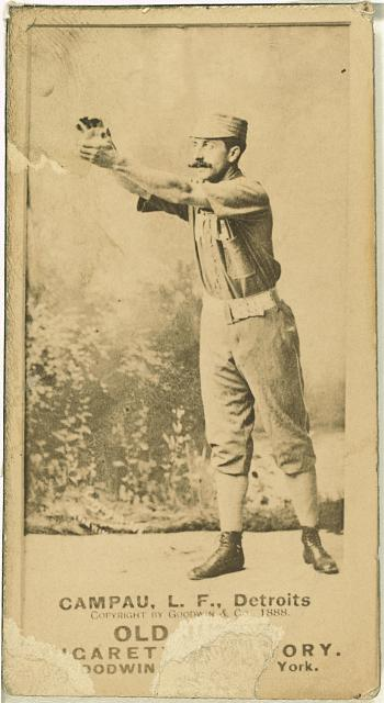[Count Campau, Detroit Wolverines, baseball card portrait]