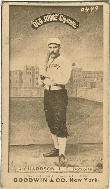 [Hardy Richardson, Detroit Wolverines, baseball card portrait]