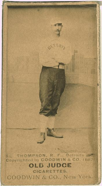 [Sam Thompson, Detroit Wolverines, baseball card portrait]