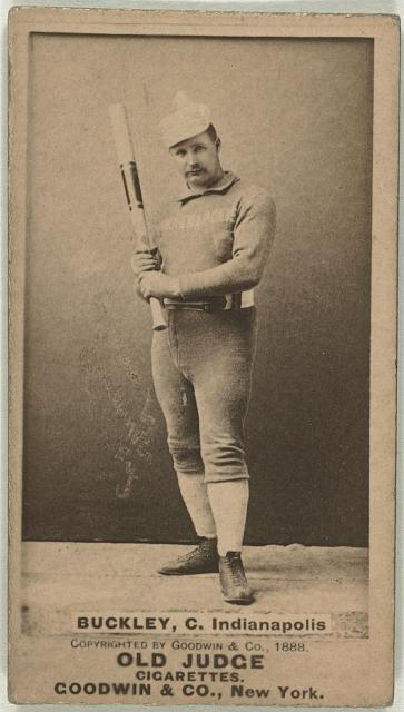 [Dick Buckley, Indianapolis Hoosiers, baseball card portrait]