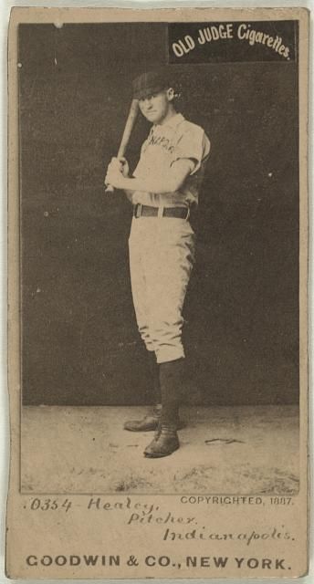 [Egyptian Healey, Indianapolis Hoosiers, baseball card portrait]
