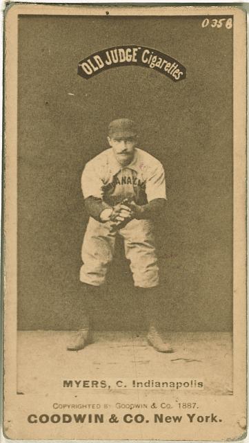 [George Myers, Indianapolis Hoosiers, baseball card portrait]