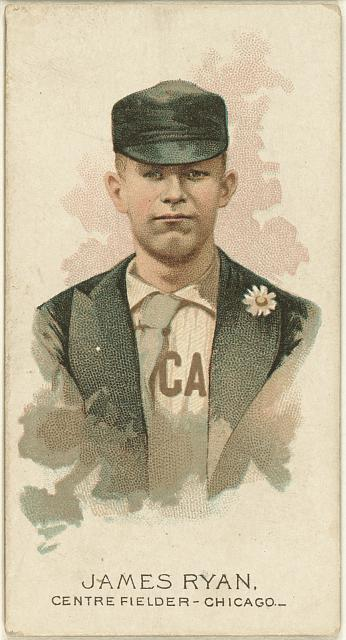 [James Ryan, Chicago White Stockings, baseball card portrait]