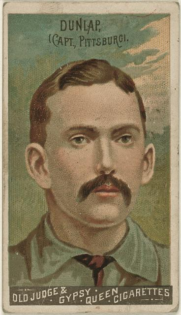 [Fred Dunlap, Pittsburgh Alleghenys, baseball card portrait]