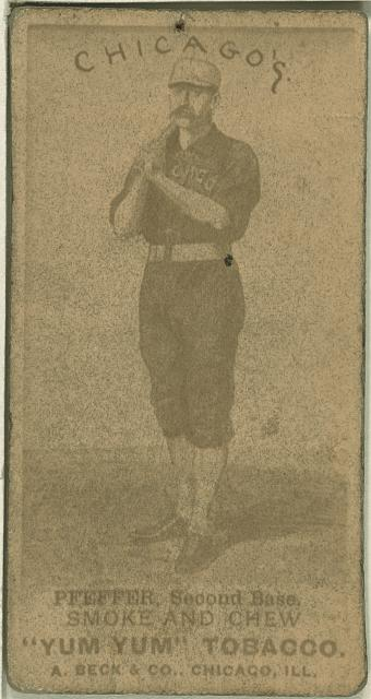 [Fred Pfeffer, Chicago White Stockings, baseball card portrait]