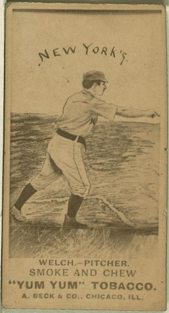 [Mickey Welch, New York Giants, baseball card portrait]