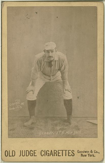 [Roger Connor, New York Giants, baseball card portrait]
