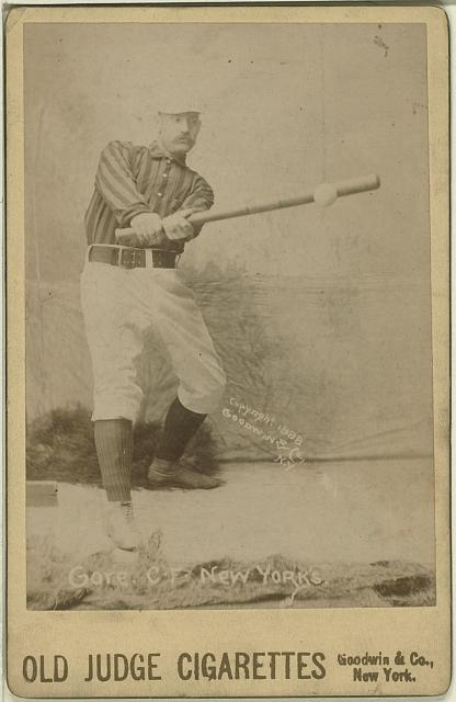 [George Gore, New York Giants, baseball card portrait]