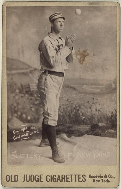 [Mike Slattery, New York Giants, baseball card portrait]