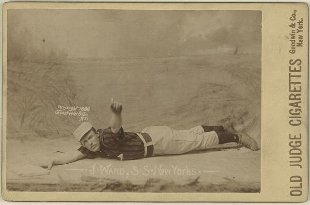 [Monte Ward, New York Giants, baseball card portrait]
