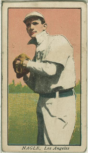 [Nagle, Los Angeles Team, baseball card portrait]