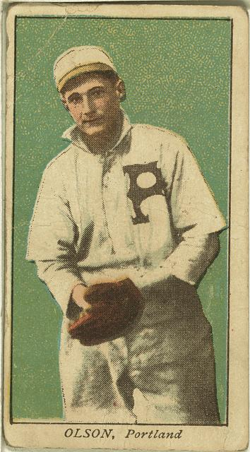 [Olson, Portland Team, baseball card portrait]
