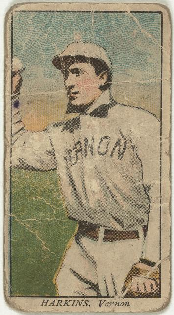 [Harkins, Vernon Team, baseball card portrait]