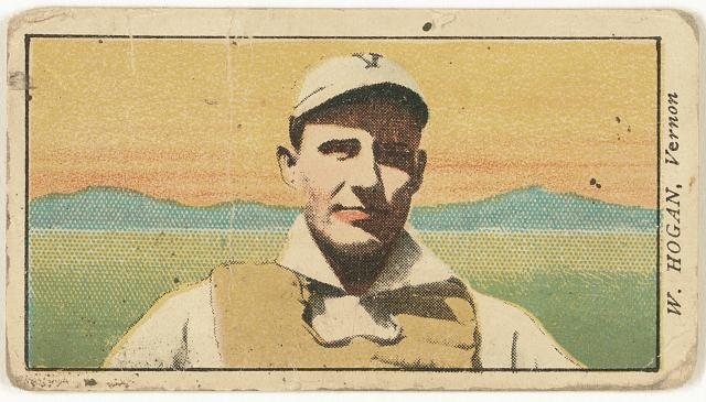 [W. Hogan, Vernon Team, baseball card portrait]