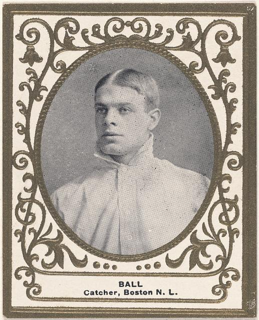 [Jim Ball, Boston Doves, baseball card portrait]
