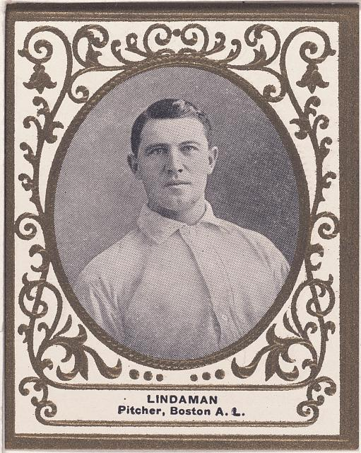 [Vive Lindaman, Boston Doves, baseball card portrait]