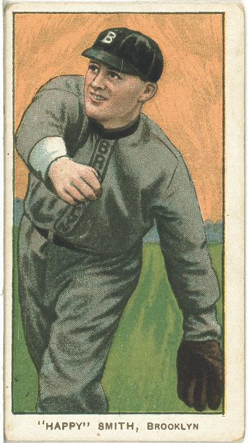 [Happy Smith, Brooklyn Superbas, baseball card portrait]