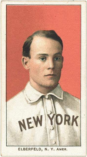 [Kid Elberfeld, New York Highlanders, baseball card portrait]