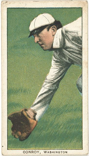 [Wid Conroy, Washington Nationals, baseball card portrait]