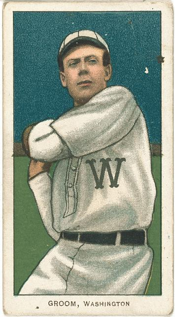 [Bob Groom, Washington Nationals, baseball card portrait]