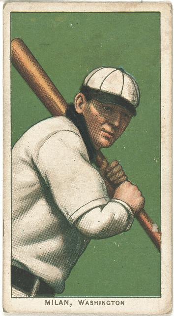 [Clyde Milan, Washington Nationals, baseball card portrait]