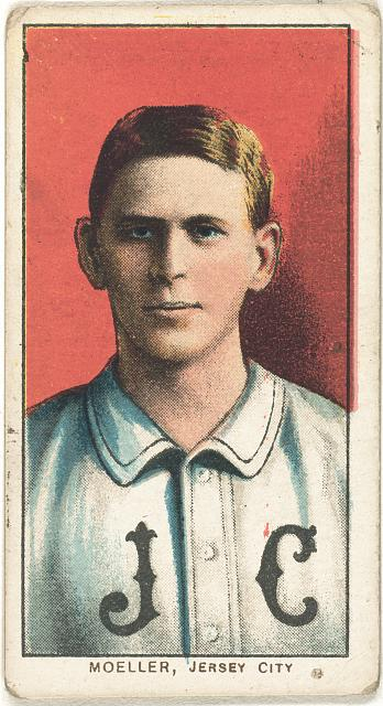 [Dan Moeller, Jersey City Team, baseball card portrait]