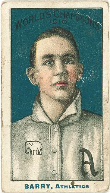 [Jack Barry, Philadelphia Athletics, baseball card portrait]