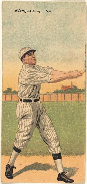 [John Kling/Leonard C. Cole, Chicago Cubs, baseball card portrait]
