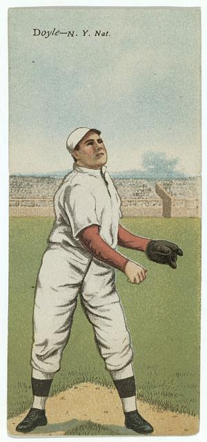 [Larry Doyle/J. T. Meyers, New York Giants, baseball card portrait]