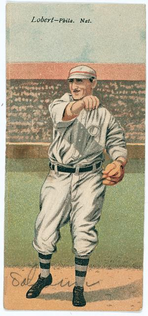 [John Lobert/Earl Moore, Philadelphia Phillies, baseball card portrait]