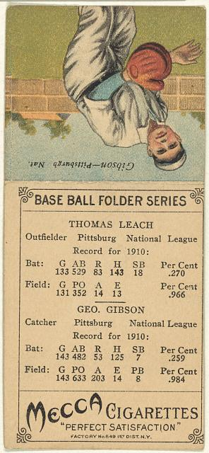 [Thomas Leach/Geo. Gibson, Pittsburgh Pirates, baseball card portrait]