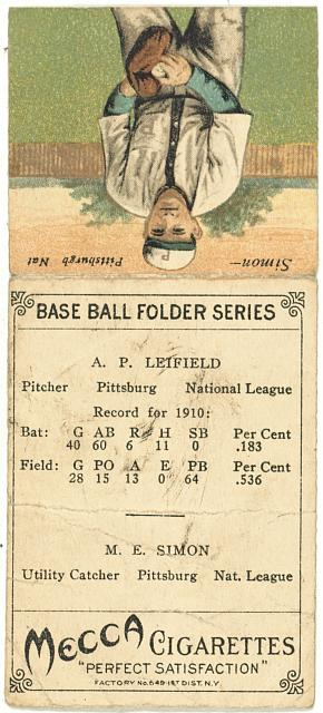 [A. P. Leifield/ M. E. Simon, Pittsburgh Pirates, baseball card portrait]