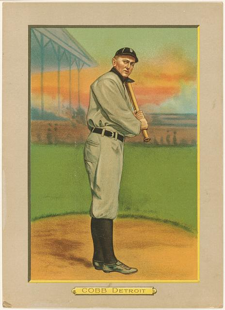 [Ty Cobb, Detroit Tigers, baseball card portrait]